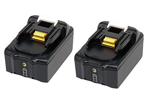 2 X 18V 4.0Ah Li Ion Werkzeug akku Makita BL1840B BL1850B BL1830 mit LED-Leuchten für Makita Hammer Driver Drill DHP481 DHP458 DHP451 DHP454