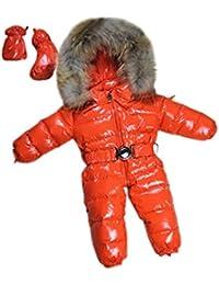-30℃ invierno del bebé monos ropa de bebé, marca abrigos nieve desgaste chaqueta abajo, monos de nieve para niños niños niñas ropa