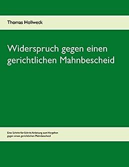 Widerspruch Gegen Einen Gerichtlichen Mahnbescheid Ebook Thomas
