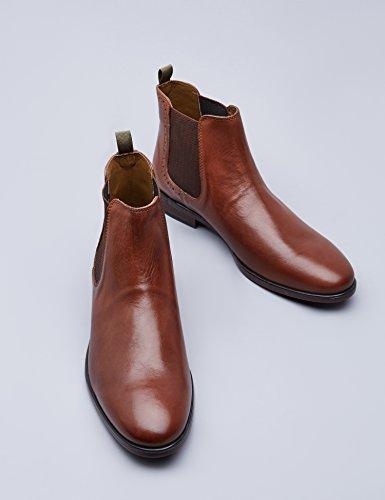 Glattleder Chestnut Braun Chelsea Boots FIND Herren Uqw5XzAxA