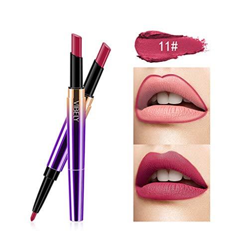Doppelseitiger Multifunktions-Lippenstift, wasserdichter und haltbarer Lip Liner-Lippenstift, mattierter feuchtigkeitsspendender Lippenstift (16 Farben optional) Watopi