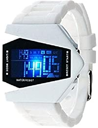 Pappi-Haunt - BRANDED ORIGINAL - MULTIFUNTION - White 7 Light Display - Digital LED Wrist Watch for Boys, Men