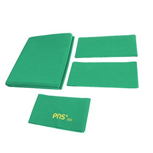 Gazechimp PNS900 Standard Billardtuch für 9ft Tisch (278 x 155 cm), Gute Verarbeitung, als Persönliche oder Club Billardtuch - Grün