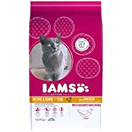 Iams ProActive Health Complete and Balanced Senior Cat Food with Chicken, 10 kg
