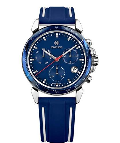 Jowissa LeWy 9 Swiss J7.108.L - Reloj para Hombre, Color Azul y Plateado