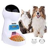 Iseebiz Automatischer Futterspender mit Timer, 3 L Futterautomat für Hund und Katze, Automatic Pet Feeder mit LCD Bildschirm und Ton-Aufnahmefunktion, bis zu 4 Mahlzeiten am Tag