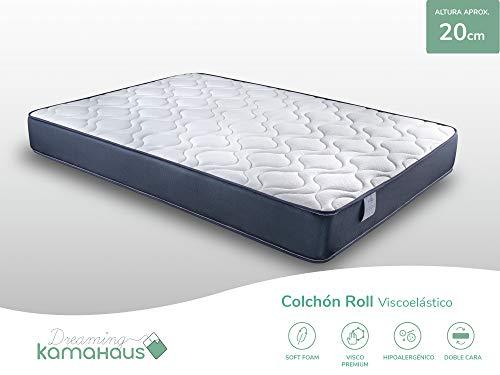 Dreaming Kamahaus Viscoelástico Roll Colchón, Cartón, 90x190