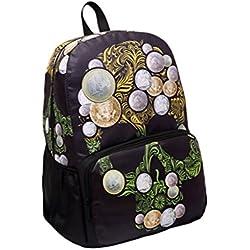 Demarkt Moderna Mochila de hombros Mochila doble de laptop diseño calavera escolar/ de viaje