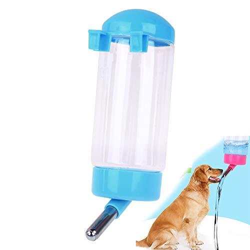 Hilai 500ml Pet-Flasche Zum Aufhängen Kein Drip Trinken Spender für Puppy Katze Kaninchen Kleine Tiere, automatisch Füttern Wasser (Pink) -
