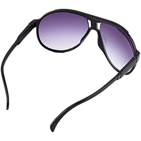 Nero Unisex Vintage donne uomini occhiali specchio Lens Occhiali SG