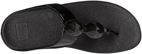 Fitflop Ladies Pierra Tm Toe, 37 Eu Nero