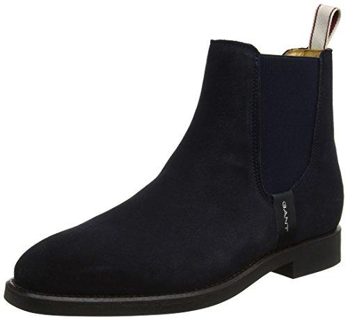 GANT Footwear Damen Jennifer Chelsea Boots, Blau (Marine), 37 EU (Wildleder Chelsea Boots)