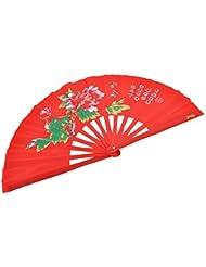 Abanico Tai Chi (Tai Ji Shan) Peonía
