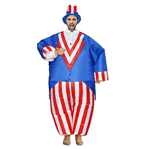 Aufblasbare Fun Patriot Kostüm Kostüm Halloween Karneval Maskerade Party Supplies Air Suit,150-190cm