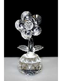 Single Crystal Flower on Crystal (Clear)