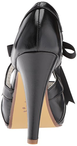 Pin Up Couture BETTIE-19 Blk Faux Leather