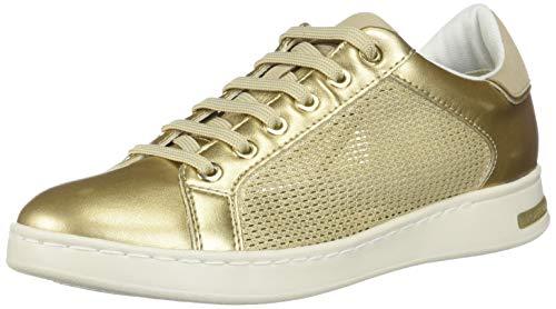 Geox Damen D Jaysen A Sneaker, Gold (Champagne/Gold Cb52x), 36 EU (Sneaker Gold In)