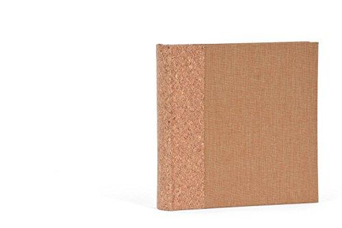 Henzo Einsteckalbum Cork für max. 200 Fotos 10x15cm Fotoalbum, Kork und Leinen, braun 22.5 x 22.5 x 5 cm Foto-archiv