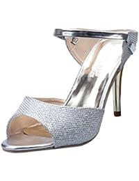 OD Ouneed ® Moda Mujer Mujeres Sandalias Tobillo Tacones Alto Bloque Partido Abierto Zapatos de Dedo del Pie EU34-40