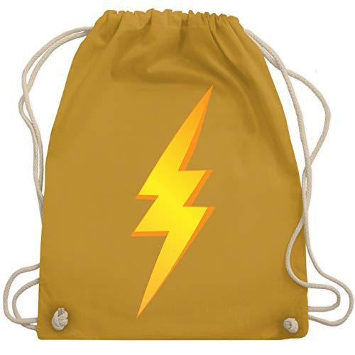 Karneval & Fasching - Blitz Kostüm - Unisize - Senfgelb - WM110 - Turnbeutel & Gym Bag (Blitz Kostüm)