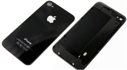 VETRO POSTERIORE COPERCHIO BACK COVER GLASS IPHONE 4s NERO in bulk pack+ GIRAVITE TORX in bulk pack
