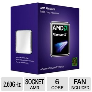 AMD Phenom II X6 1035T (6x 2.60GHz) HDT35TWFK6DGR Sockel AM3 #52563 (Phenom 2 X6)