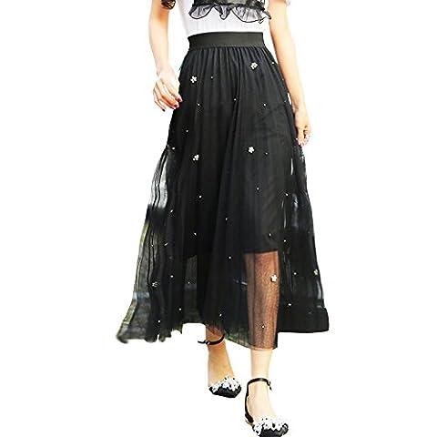 Years Calm - Jupe - Trapèze - Femme - noir - Taille Unique