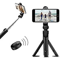 mobicell Bluetooth Extendable Selfie Stick with Wireless Remote and Tripod Stand Compatible with All Mobile Phone (Black…