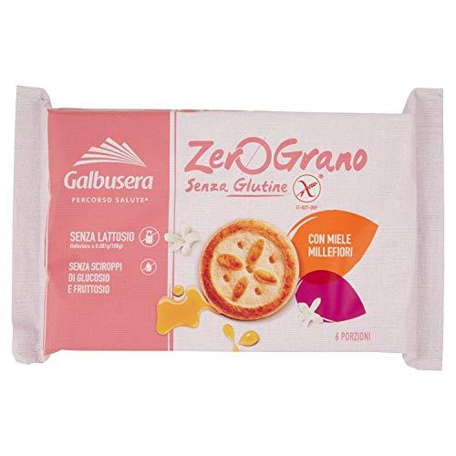 Galbusera - zerograno frollini con miele millefiori, senza glutine - 260 g