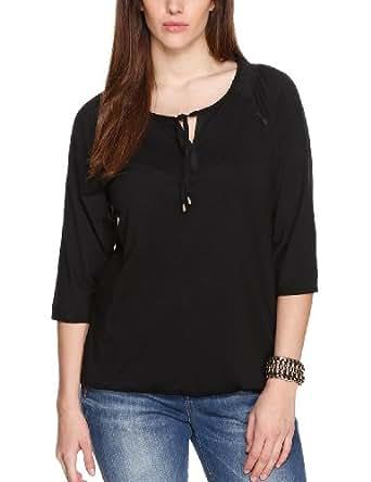 TRIANGLE - s.Oliver Damen T-Shirt 18.404.39.3489, Einfarbig, Gr. 42, Schwarz (black 9999)