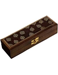 Jewellery Case Wooden Keepsake Boxes for Girls Arts & Crafts of India 20.32 cm x 6.35 cm x 7.62 cm