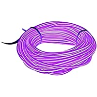 Lysignal 9ft Neon Glowing Strobing Electroluminescent Light Super Bright Battery Operated EL Wire Cable for Cosplay