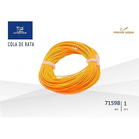 Sedal Hilo cable Cola de rata naranja Pescar