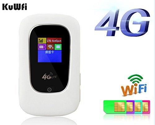 kuwfi aperta IEEE802.11b/g/n 100Mbps rilegato senza fili 4G Router Wi-Fi portatile Modem Router Wi–Fi 3G, 4G msm9215con scheda Sim Slot 4G Chip (scheda SIM non comprese, puoi acquistare Localmente)