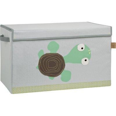 Lässig Storage Toy Trunk Aufbewahrungsbox mit Deckel für Kinderzimmer, Wildlife Turtle