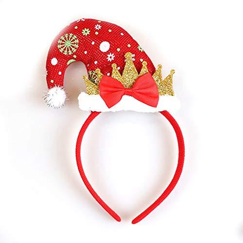 Elf Hut, Weihnachtsmütze, Weihnachtsmütze, Weihnachtsmütze, Kindermütze, Erwachsene Sankt-Hut, Party-Zubehör, Schneeflocken Weihnachtsschmuck ()