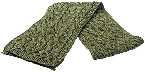Carrolls Irish Gifts Aran Super Soft Merino Zopfschal, Armeegrün (Schals Irische Und Wraps)