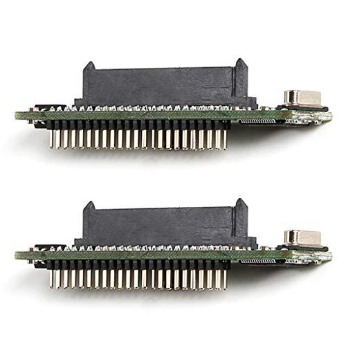 B Blesiya 2 Stück 2,5 Zoll SATA 22pin Buchse auf 44Pin IDE HDD SSD Adapter Konverter Karte -