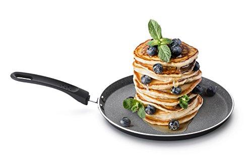 Crepespfanne Induktion, Pancake Pfanne Rosmarino | Premium Palatschinkenpfanne | Crepepfanne für Induktion 25 cm | Protein Pancakes Testsieger