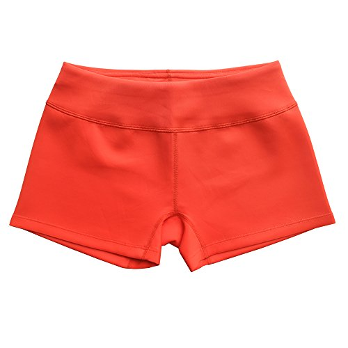 Musclealive Femmes Shorts de botte Yoga Women Shorts de conditionnement physique 95% polyester et 5% spandex Orange