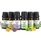 Set di oli essenziali vegetali, aromaterapia naturale leggera aromaterapia leggera aromaterapia idrosolubile (6x10 ml di olio, lavanda pura, arancio, tea tree, citronella, menta piperita, rosmarino)
