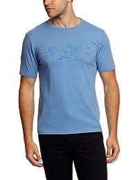 Dockers - Camiseta slim fit con estampado con cuello redondo de manga corta para hombre