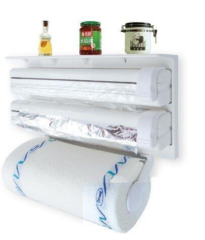 Spice Papier (olayer Küche Regal Kunststoff Wickeln Rahmen dreifach Papier Spender Konservierungsmittel Film Rack Spice Regal)