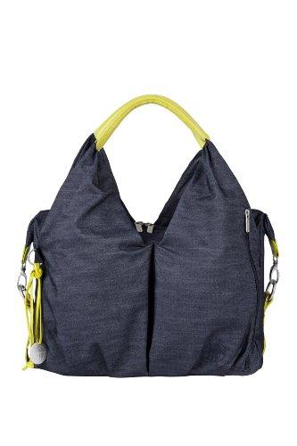 Lässig Green Label Neckline Bag Wickeltasche/Babytasche inkl. Wickelzubehör aus recyceltem Material, denim blue (Zubehör Denim)
