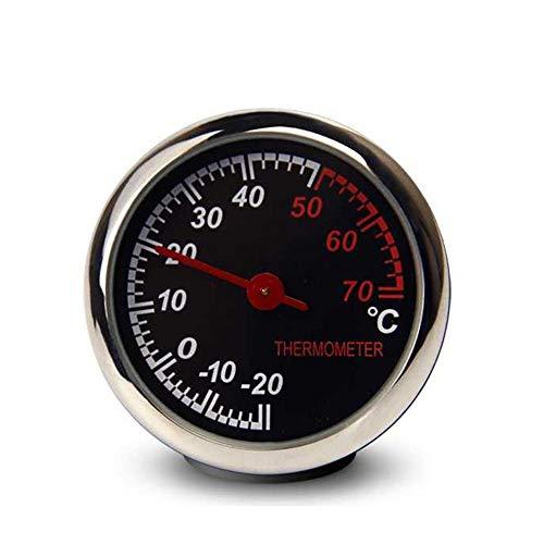 uto Thermometer Tragbare Runde Armaturenbrett Thermometer für Auto SUV Lkw (Schwarz) ()