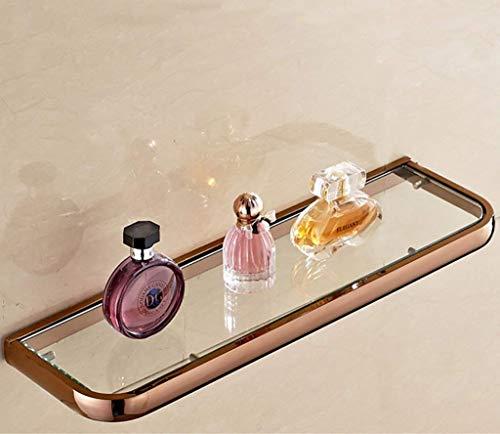 Badezimmer Regal Badezimmer Regal European Style Glasregal einschichtiges Gold-Kosmetik vorne Spiegel-Front-Regal Badezimmerspiegel Regal Wandmontage Badezimmer-Racks (Farbe: C) -