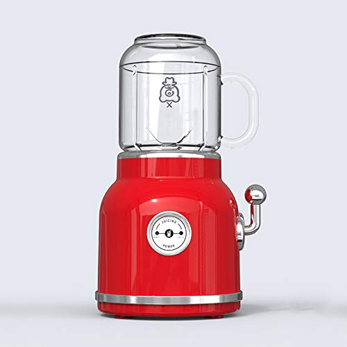 Love House Obst Mixer Entsafter,Retro-Blender Portable Saft Mixer Mixer Persönliche Electric Power Mixer Obst und Gemüse mit Travel Deckel Einzelne Servieren-Rot - Power Mixer-cup