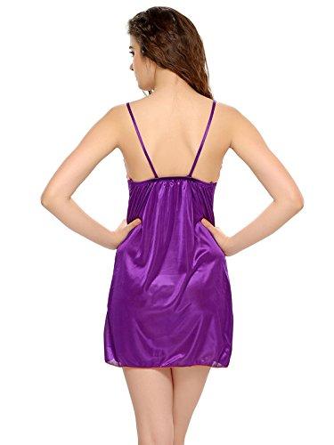 Clovia - Chemise de nuit - Femme Violet - Violet