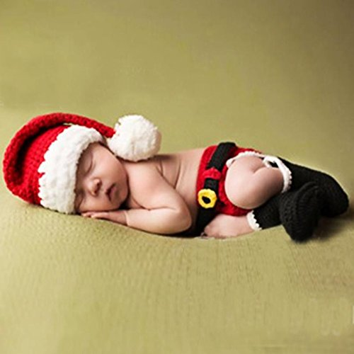 fie Props Crochet Knitted Baby Outfits Costume Photography Photo Prop (Red Hat) (Carl-kostüm)