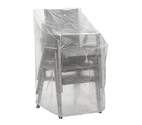 Dehner Gute Wahl Schutzhülle für Stapelstühle, ca. 120 x 66 x 66 cm, Polyethylen, transparent